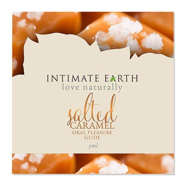 Λιπαντικό Glider Στοματικής Απόλαυσης Salted Caramel Φύλλο 3 ml Intimate Earth 6547