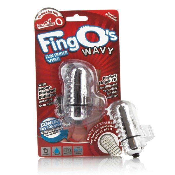 Δαχτυλίδι Δόνησης The FingO Wavy Clear The Screaming O FNG-W101