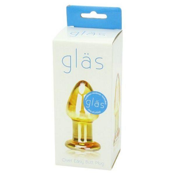 Γυάλινο Πώμα Πρωκτού Over Easy Glas 63187