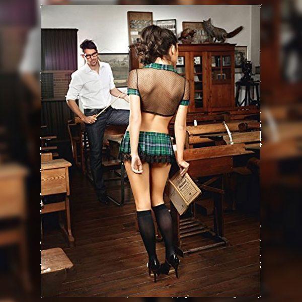 Σετ Καθολική Μαθήτρια Ένα Μέγεθος Baci Lingerie BD1265