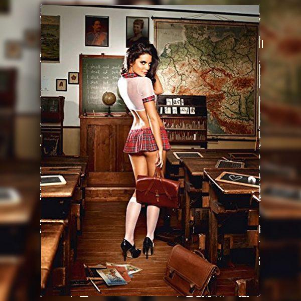Σετ Εκπαιδευτικος Χαιδεμένη Μαθήτρια Ένα Μέγεθος Baci Lingerie BD1275