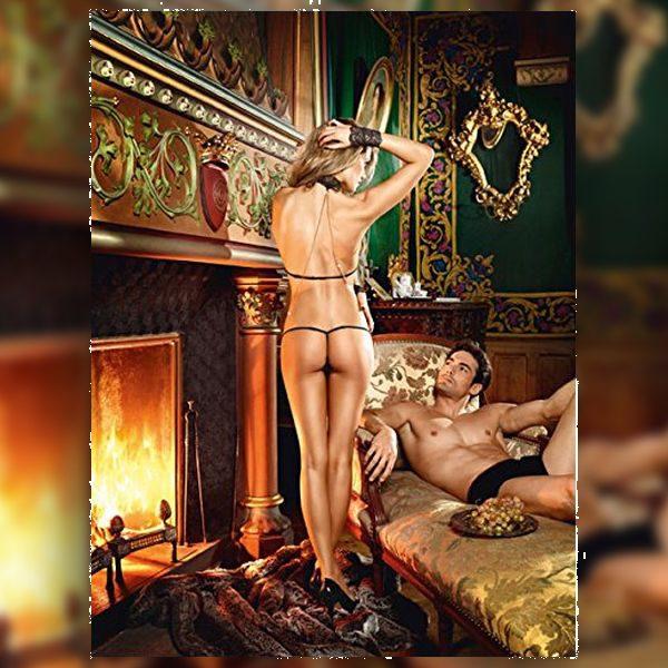 Σετ Δαντελένιο Love Slave Ένα Μέγεθος Baci Lingerie BD1324