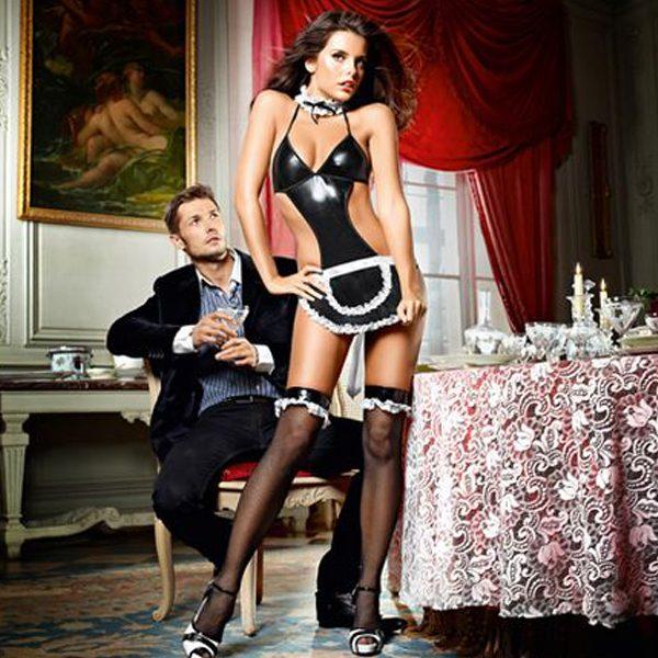Σετ Στις Υπηρεσίες σα Γαλλίδα Καμαριέρα ένα Μέγεθος Baci Lingerie E25254