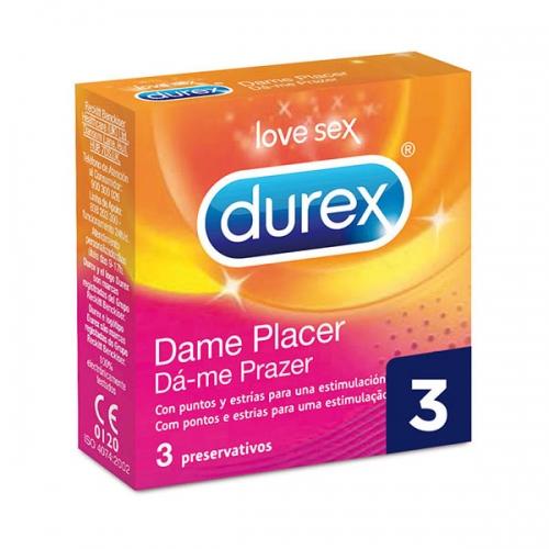 Προφυλακτικά Dame Placer Durex (3 pcs)