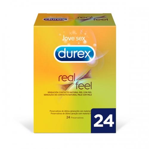 Real Feel Προφυλακτικά Durex (24 uds)