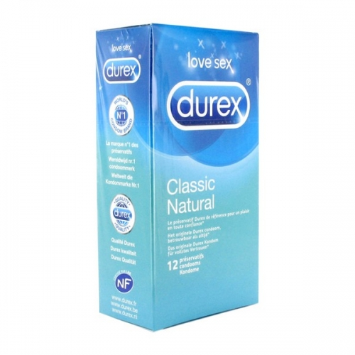 Classic Natural Προφυλακτικά 12 τεμ Durex 8424