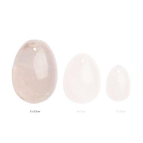 Αυγά Γιόνι La Gemmes Medium 4cm x 3cm - Χαλαζίας- Ροζ