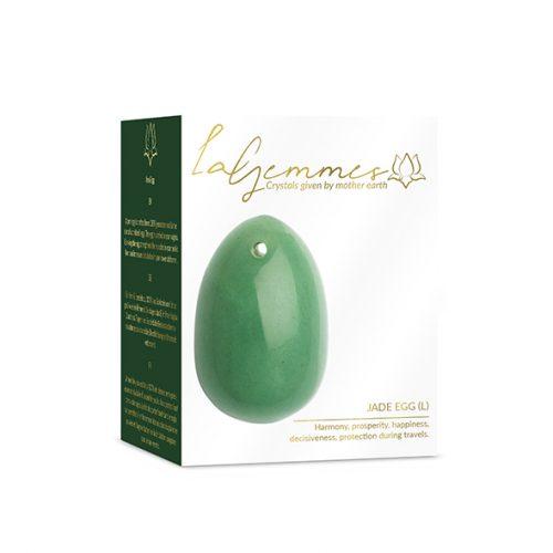 Αυγά Γιόνι Jade La Gemmes Large 5cm x 3,5cm - Νεφρίτης - Πράσινο