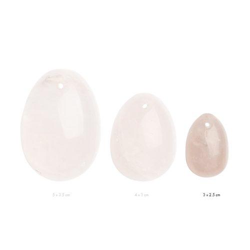 Αυγά Γιόνι La Gemmes Small 3cm x 2,5cm - Χαλαζίας- Ροζ
