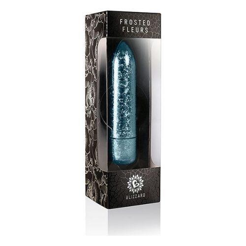 Δονητής Frosted Fleurs Bullet Rocks-Off - Μπλε